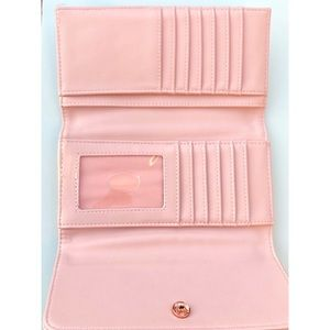 G by Guess Bags - G by Guess Quilted Pink Bow Flap Wallet
